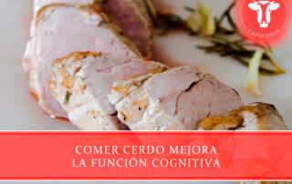 comer cerdo mejora la función cognitiva