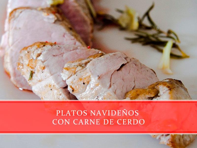 Platos navideños con carne de cerdo