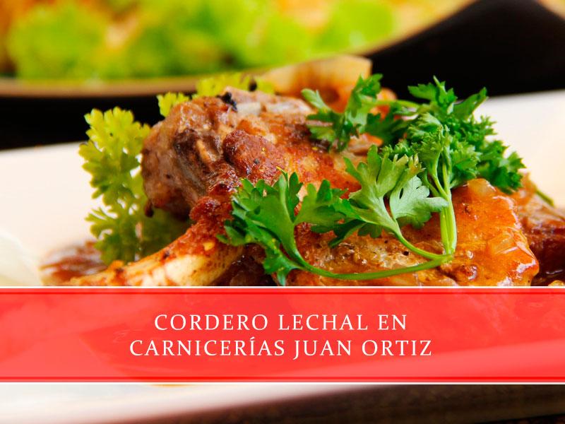 cordero lechal en Carnicerías Juan Ortiz