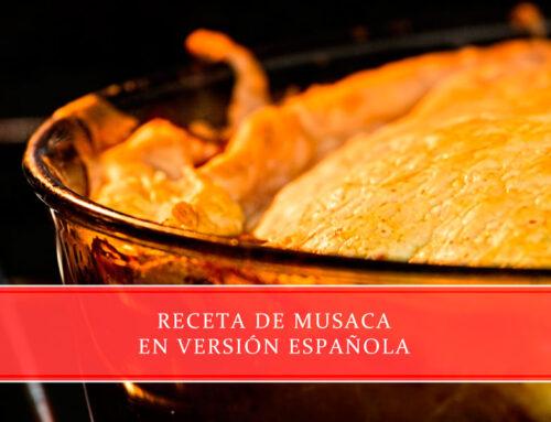 Receta de musaca en versión española