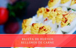 Receta de huevos rellenos de carne - Carnicerías Juan Ortiz