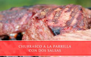 churrasco a la parrilla con dos salsas - Carnicería Juan Ortiz