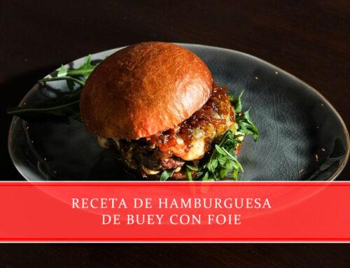 Receta de hamburguesa de buey con foie