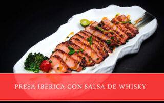 receta de presa ibérica con salsa de whisky - Carnicerías Juan Ortiz