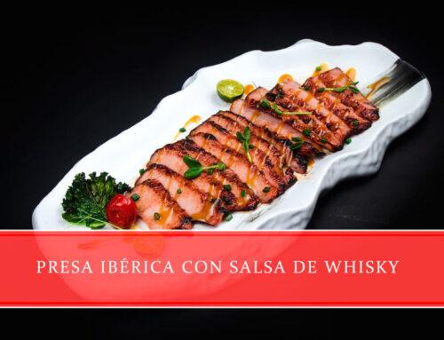 Presa ibérica con salsa de whisky