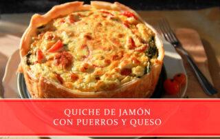 Quiche de jamón con puerros y queso - Carnicerías Juan Ortiz